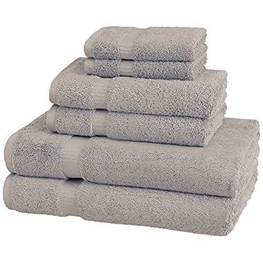 Pinzon Organic Cotton Towels 6 Piece Set, Marble Grey