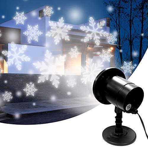 LED Projektionslampe, Schneeflocke Projektor Lichter, LED Snowflake Projektor Weihnachten Aussen Wasserdicht IP65 für Innen und Außen Dekoration Weihnachts Party Hochzeit