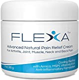 FLEXA Natural Pain Relief Cream - Fast Cooling Formula with Arnica, Menthol, MSM, Ilex Leaf and Tea...