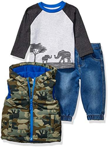 Little Me Baby Boy's Jacket Set Outerwear, Multi, 24 Months