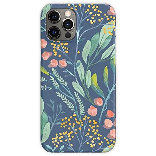 Fundas para teléfono Pure Clear TPU Anti-Fall compatibles con iPhone 12/12 Pro MAX 12 Mini 11 Pro MAX SE X XS MAX XR 8 7 6 6s Plus Funda-Plant Floral Flower Tranquil Energy Nature Botanical Calm