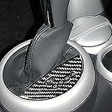 Para BMW Mini Cooper Hatch One R50 R53 2002-2004 pegatinas de fibra de carbono cambio de consola interruptor marco interior automático botón de la caja de cambios (RHD)
