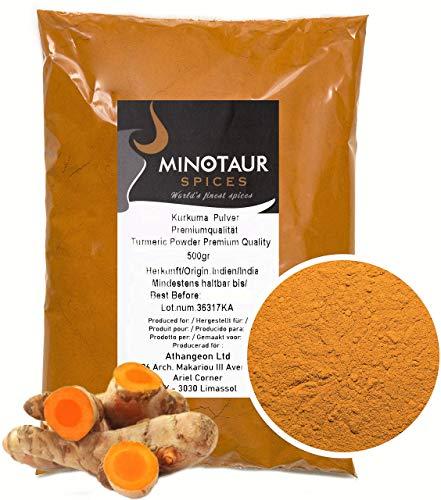 Minotaur Spices | Curcuma macinata | curcuma in polvere delicata | 2 x 500g (1Kg)