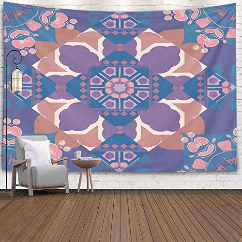 Tapiz de arte, tapiz para colgar en la pared, tapiz, manta, trama, tela a cuadros, textura, impresión en tonos, azul, verde, gris, tartán, tela escocesa, patrón, navidad, dormitorio, sala de estar, de