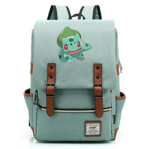 Mochila Anime Wonder Frog Seed, Mochila Oxford para Adolescentes al Aire Libre, Mochila universitaria, se Adapta a tabletas de 15', Resistente al Agua de 16 Pulgadas. Color-07.