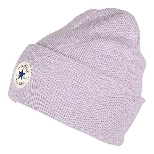 Converse Unisex Mütze Tall Cuff Watchcap Knit Barely Fuchsia (rosa Lavendel)