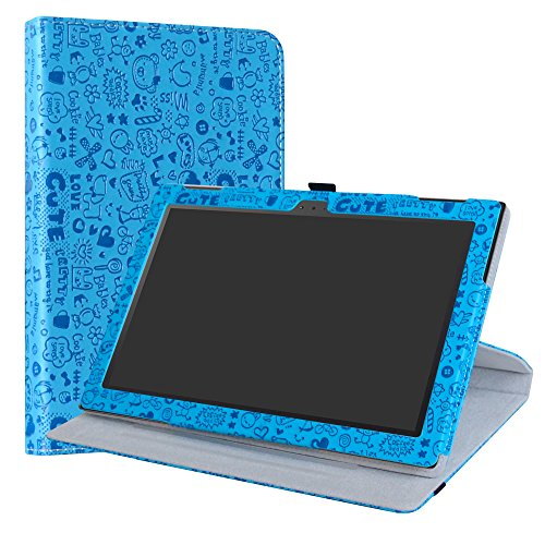 """Lenovo Tab 4 10 rotante Custodia,LiuShan 360 gradi di rotazione custodia in Pelle PU con supporto caso per 10.0"""" Lenovo Tab 4 10 TB-X304F Lenovo Tab 4 10 TB-X304L Android Tablet,Azzurro"""