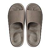 Decai Mujeres Zapatos de Piscina Chanclas de Playa para Hombre Zapatillas de Estar por Casa de Mujer Verano Baño Antideslizante EVA Masajes Playa Chanclas Sandalias Marrón 40/41 EU