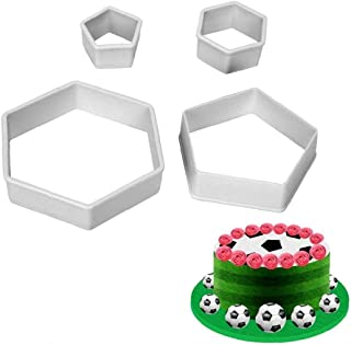 POKL 4 piece/set Cake Decorating Tool Football Fondant cutter Mould Plastic Bakeware Soccer Shape Cake Mold Maker