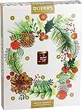 Duerr - Calendario dell'Avvento perfettamente conservato, 24 porzioni di marmellata e 1 mini barattolo di marmellata con whisky, regalo di Natale