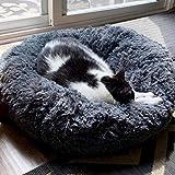 FANCYDELI Orthopedic Dog Bed Comfortable Donut Cuddler Round Dog Bed Gray 20'