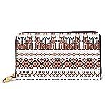 ~ Wallet,Cross Stitch Ethnic Ukraine Leather Zipper Wallet Clutch Purse,Organizers Credit Card Holder Case Wallet for Men,Women