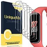 [6 Pack] UniqueMe Compatible con Samsung Galaxy Fit 2 Protector de Pantalla de TPU, [Sin Burbujas] HD Film [Flexible] Transparente