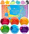 Squishy Bubble Bath Bombs for Kids with Surprise Squishy Toys Inside by Two Sisters. 6 Large 99% Natural Fizzies in Gift Box. Moisturizes Dry Skin. Releases Color, Scent, Bubbles (Squishy)