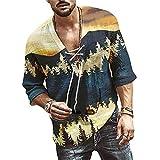 Shirt Casual Hombre Transpirable con Cuello En V Básica Hombre...