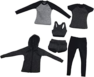 IPOTCH 1/6 Scale Female Sportswear Outfits for 12 INCH Action Figures Hot Toys