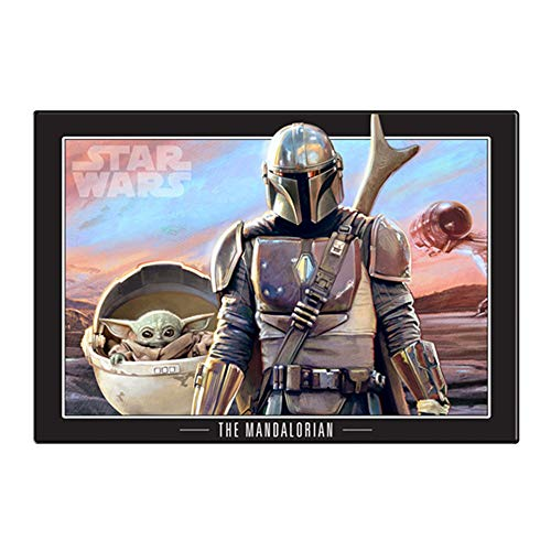 No Framed The Scenes In The Movie Star Wars The Mandalorian Home Wall Poster