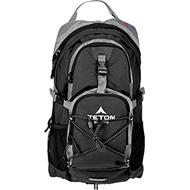 TETON Sports Oasis 1100 2 Liter Hydration Backpack Perfect for Skiing, Running, Cycling, Biking, Hiking, Climbing, and Hunting; 2 L Water Bladder Included; Free Rain Cover Included; Black
