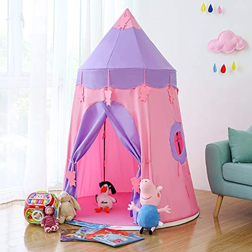 Kids Play Tent of Girls Toys Castle Play Tent Playhouse Best Pink Teepee For Your Children In 0-12 Years Old