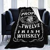 NotApplicable Fleece Blanket Adecuado 12 Whisky Irlandés Mcgregor Manta De Vellón Inspirada Cama Sofá Ligero Manta Personalizada Manta Cálida Manta Club Oficina 3 Tamaños Escuela Coche 153cmX204cm