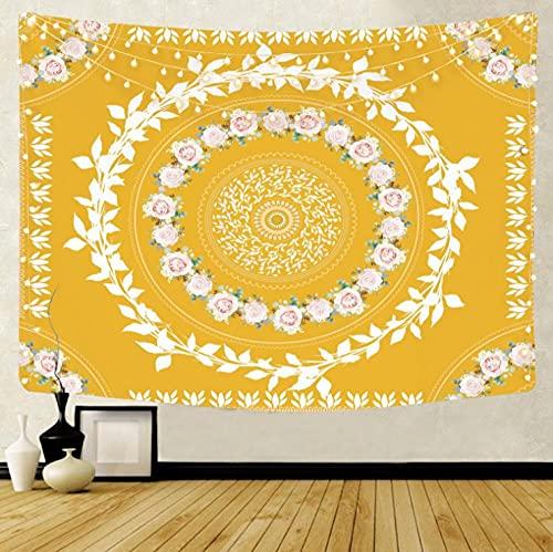 Arazzo da Parete 3D Ghirlanda gialla Arazzo da Parete Grande Art Arazzi Decorazione Telo Stuoia Coperta Soggiorno Camera da Letto Décor 150x200cm