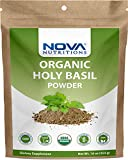 Nova Nutritions Certified Organic Holy Basil (Tulsi) Powder 16 OZ (454 gm) - Supports Healthy Immune...