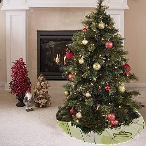 ZHANGhome Weihnachtsbaum Rock täglichen Bedarfs kreative Shampoo Print personalisierte Weihnachtsbaum Rock Polyester Hallmark Baum Rock Teppich für Party Urlaub Dekorationen Weihnachten Ornamente