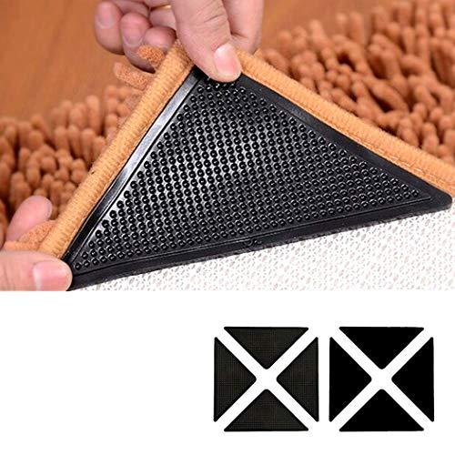 LUVODI Teppich Antirutschpad 8 Stück Antirutschmatte Teppichgreifer Wiederverwendbar Antirutsch Unterlage Teppichstopper für Büro Schlafzimmer Küche Bad