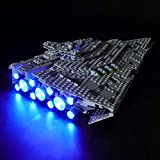 BRIKSMAX Led Lighting Kit for Star Destroyer - Compatible with Lego 75190 Building Blocks Model- Not Include The Lego Set