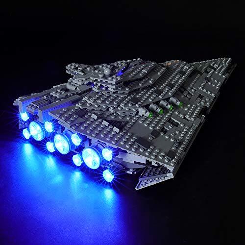 BRIKSMAX Kit di Illuminazione a LED per Lego Star Wars First Order Star Destroyer,Compatibile con Il Modello Lego 75190 Mattoncini da Costruzioni - Non Include Il Set Lego.