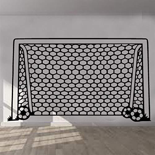 wandaufkleber 3d Wandtattoo Schlafzimmer Fußballtor-Netz-Kinderzimmer-Jungen-Mädchen-Dekor