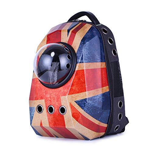 Grote huisdier rugzak reizen draagbare ruimte kat kat huisdier hond reizen ruimte rugzak-Retro Engeland
