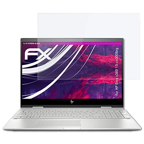 atFolix Glasfolie kompatibel mit HP Envy x360 15-cn0008ng Panzerfolie, 9H Hybrid-Glass FX Schutzpanzer Folie