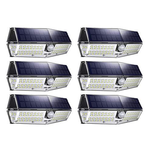 Mpow Premium Luz Solar de Exterior, Impermeable IP66, Ángulo de Iluminación de 270°, Lámpara Solar de Pared con Sensor de Movimiento y Panel Solar de Alta Eficiencia para Jardín