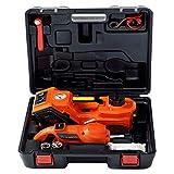 WUYANJUN Kit de Gato hidráulico eléctrico Multifuncional de 5t, Llave de Torque eléctrica de Gato hidráulico Vertical de 12v, Utilizada para Herramientas de reparación de neumáticos de automóvil
