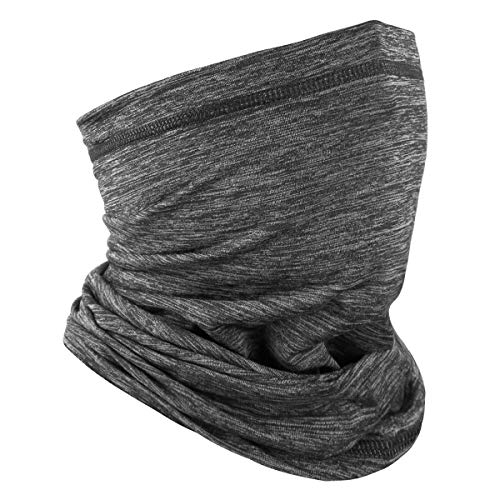 Achiou Neck Gaiter Face Mask Scarf Dust Sun Protection Cool Lightweight Windproof, Breathable Fishing Hiking Running Cycling Heather Gray