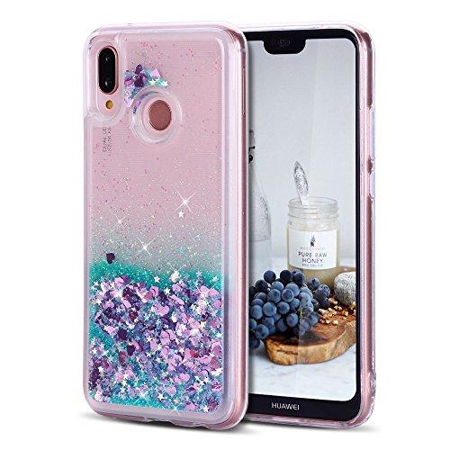 CaseLover Cover Huawei P20 Lite, 3D Glitter Liquido Sabbie Mobili