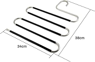High quality New layer Hanger Stainless Steel Clothing s Home Clothing Stor Racks Wardrobe Laundry Drying Rack,D2-34x38cm ...