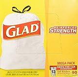 Clorox Glad Tall Kitchen Drawstring Trash Bags 13 Gallon 90 Ct