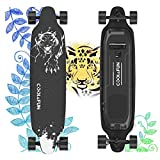 Electric Skateboard with Remote, 400W Brushless Motor Electric Longboard, 20 MPH Top Speed, 10 Miles Range, 3 Speeds Adjustment, Max Load up to 265 Lbs, 11 Layers Maple Electric Longboard
