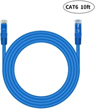 RJ45 CAT-6 Snagless Ethernet Patch Cable 3-Meter (10feet) Blue, CAT-6 LAN Cable for Internet Connection, PC, Laptops, Servers, Printers, Routers, Switch Boxes, POE Device, Xbox, PS4, PS3, PSP