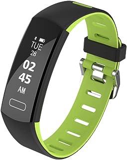 TO.1 Reloj Ritmo Cardiaco Ip67 Impermeable Multifuncional Podómetro Presión Arterial Vigilancia Deportes Bluetooth Reloj Fitness para Hombres,Mujeres,niños iOS Android Smartwatch