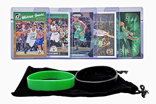 Marcus Smart Basketball Cards Assorted (5) Bundle - Boston Celtics Trading Card Gift Pack