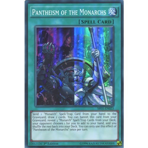 Deckboosters YuGiOh : SR01-EN023 1st Ed Pantheism of The Monarchs Super Rare Card - ( Emperor of Darkness)