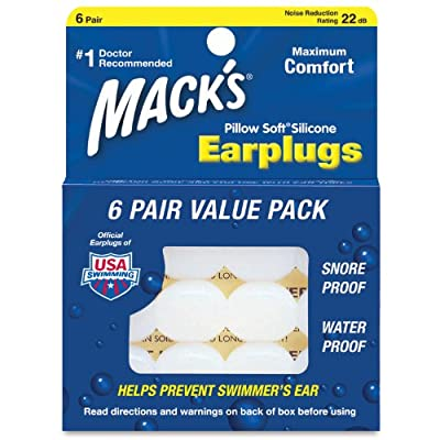 Mack's Pillow Soft Earplugs Value Pack 6 Count
