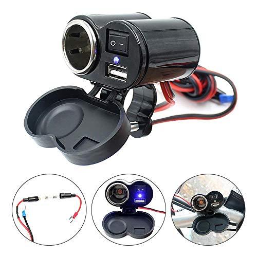 Auto Feuerzeug 1pc 12V Auto-Motorrad-Fahrrad-wasserdichte Zigarettenanzünder USB-Energien-Ladebuchse Unterstützung Dropship