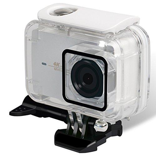 First2savvv Waterproof Case for Xiaomi Yi 4K/Yi 4K+/Yi Lite/YI Discovery 4K Diving Protective Housing Waterproof Case 40m for Xiaoyi 4K Xiaomi II/Yi Lite Action Camera with Bracket MI-Lite-05
