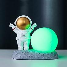 Astronautennachtlampje, creatief nachtlampje, bureaudecoratie, decoratie voor kinderkamer, goudkleurig