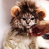 CHAW Cute Cat Lion Mane Wig Hats,Adjustable Funny Turned Lion Headgear Costume for Cats Pets, for Cat Dog Halloween & Cosplay Parties