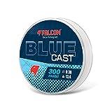Falcon Blue Cast - Hilo de Pesca, Azul, 0,26 mm x 300 m
